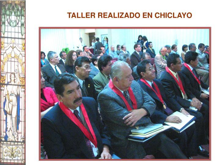 TALLER REALIZADO EN CHICLAYO