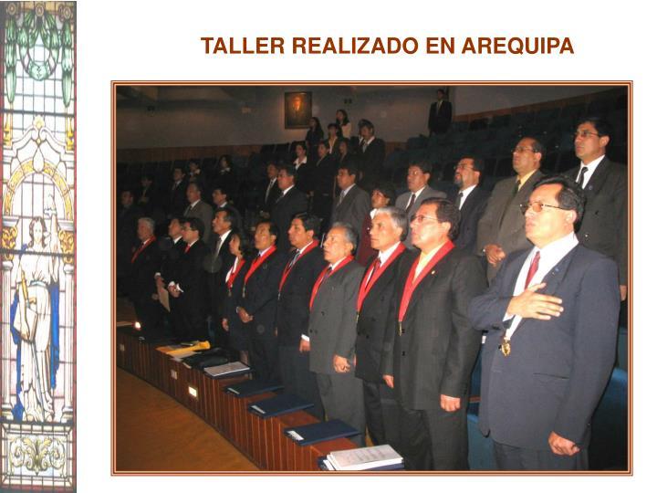 TALLER REALIZADO EN AREQUIPA