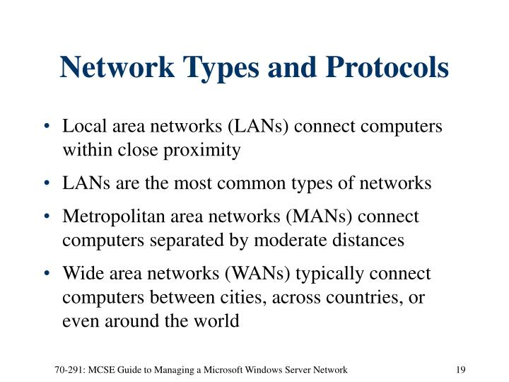 Network Types and Protocols