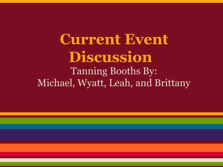 current event discussion n.