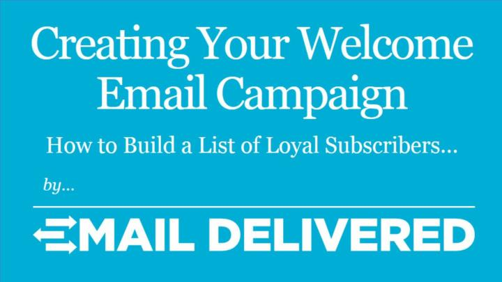 creating your welcome email campaign n.