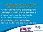 campus community civic health initiative framework