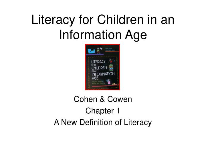 literacy for children in an information age n.