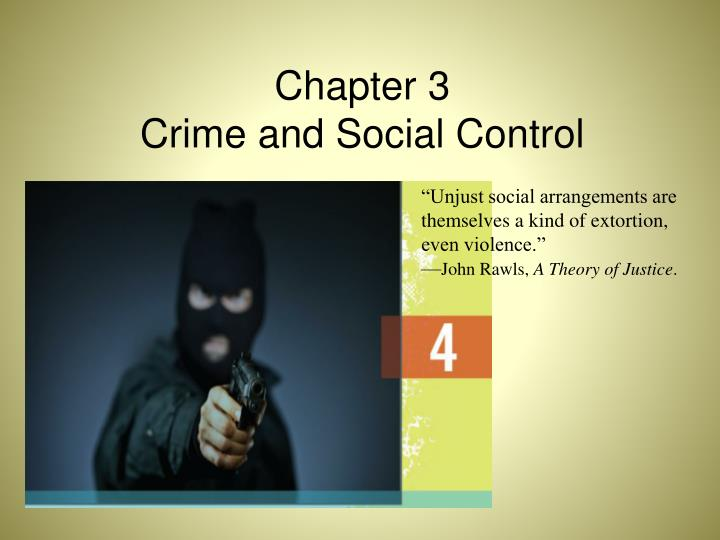 chapter 3 crime and social control n.