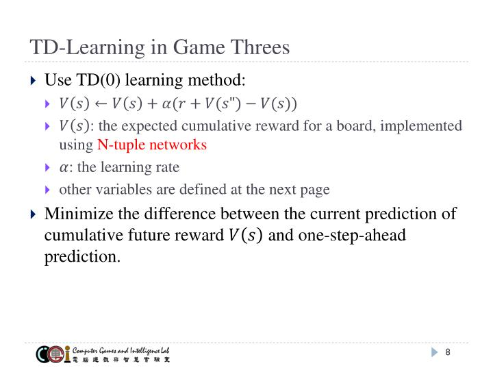TD-Learning in Game