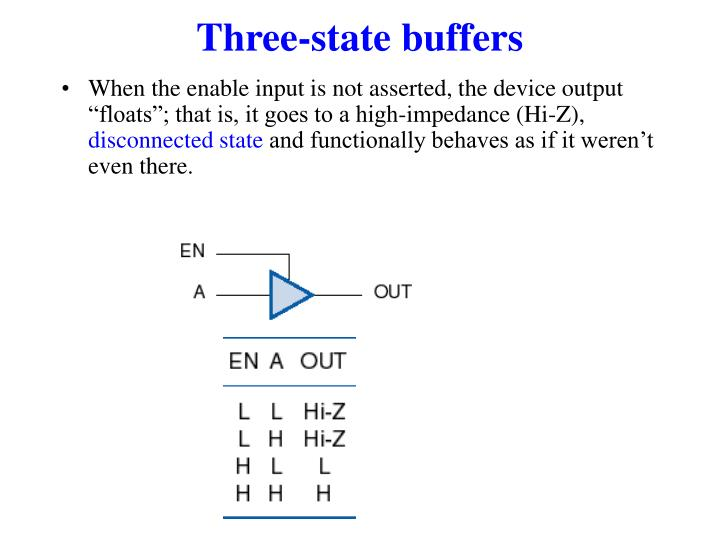 Three-state buffers