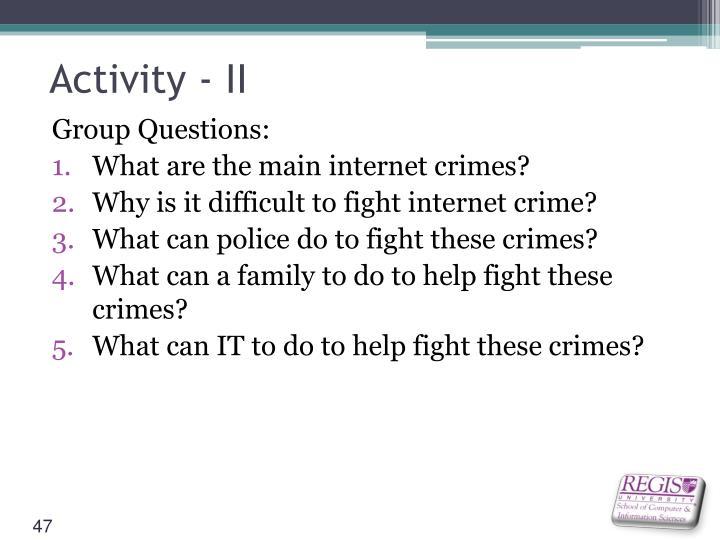 Activity - II