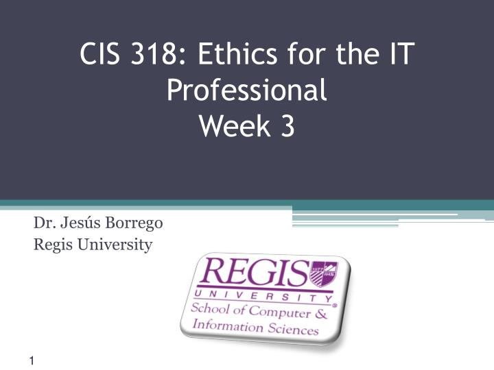 cis 318 ethics for the it professional week 3 n.