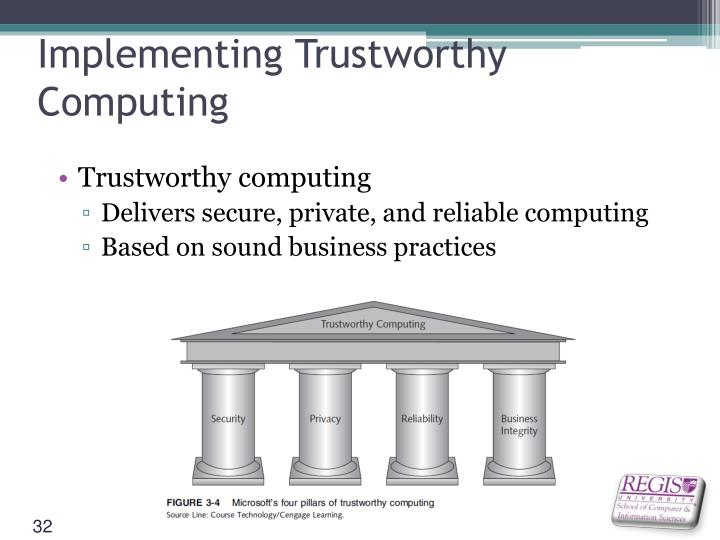 Implementing Trustworthy Computing