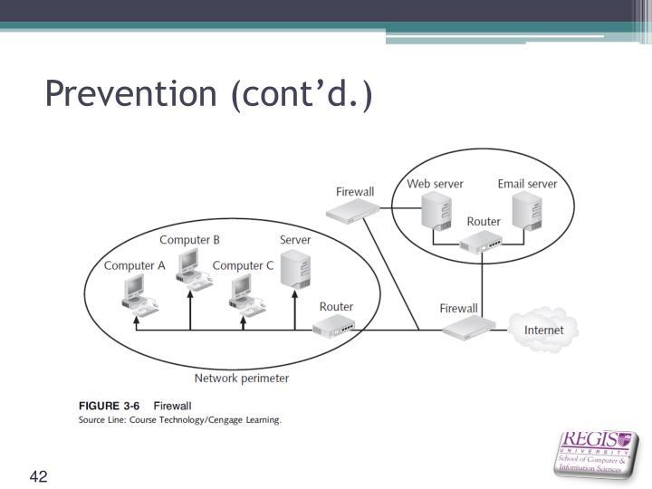 Prevention (cont'd.)