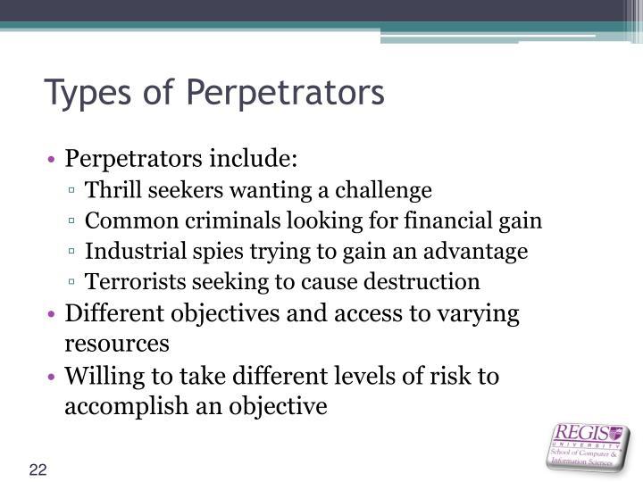 Types of Perpetrators