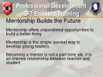professional development g 7 enlisted training19