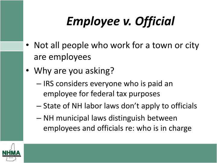Employee v. Official