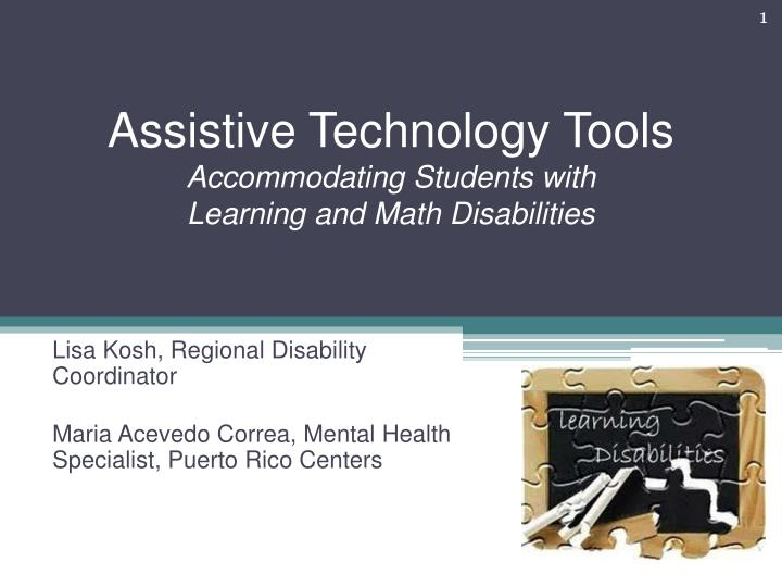assistive technology tools accommodating students with learning and math disabilities n.