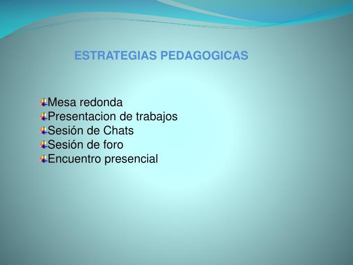 ESTRATEGIAS PEDAGOGICAS