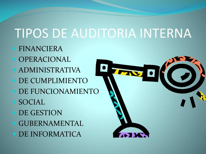TIPOS DE AUDITORIA INTERNA