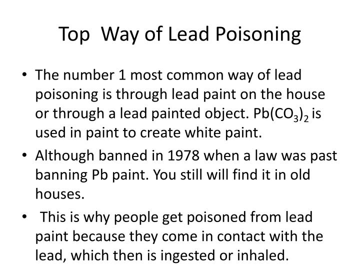 Can You Get Lead Poisoning From Touching Lead Paint