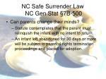 nc safe surrender law nc gen stat 7b 5003