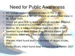 need for public awareness