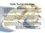 safe surrender law