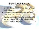 safe surrender law1