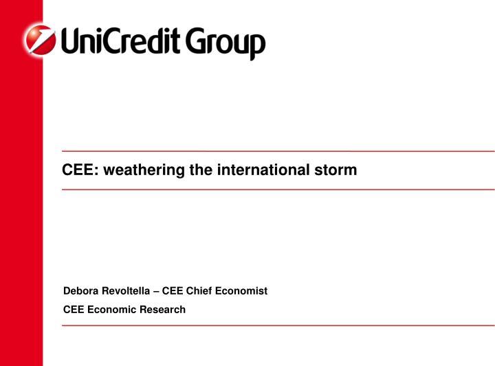 CEE: weathering the international storm