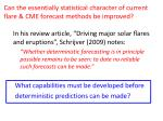 can the essentially statistical character of current flare cme forecast methods be improved