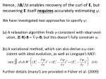hence b t enables recovery of the curl of e but recovering e itself requires accurately estimating