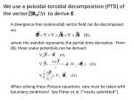 we use a poloidal toroidal decomposition ptd of the vector b p t to derive e