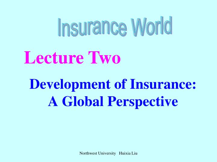 development of insurance a global perspective n.