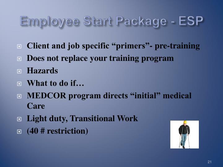 Employee Start Package - ESP