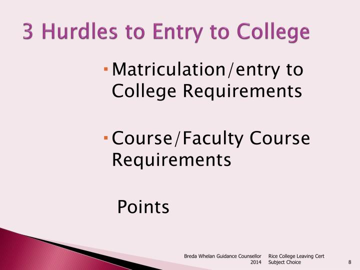 3 Hurdles to Entry to College