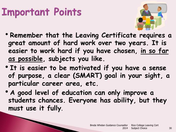 Important Points