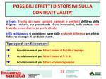 possibili effetti distorsivi sulla contrattualita