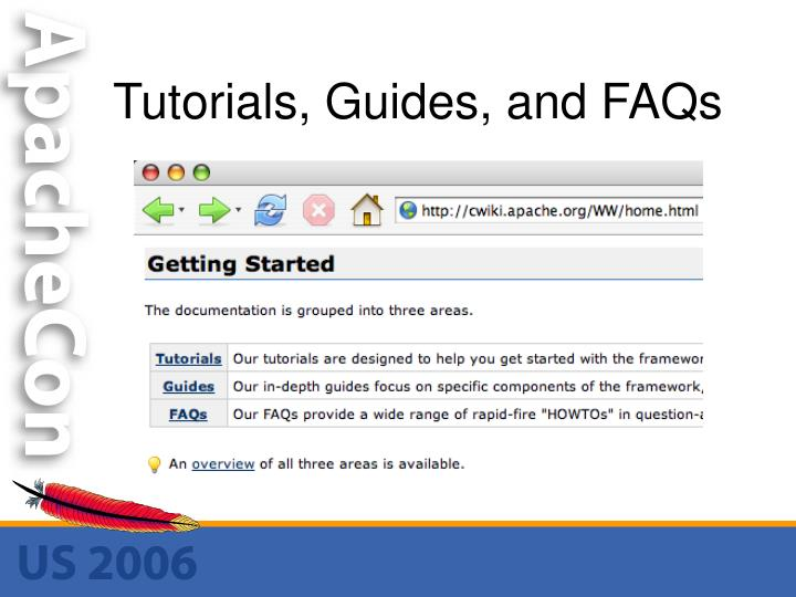 Tutorials, Guides, and FAQs