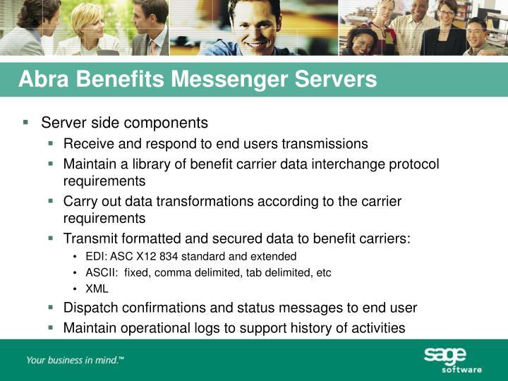 Abra Benefits Messenger Servers
