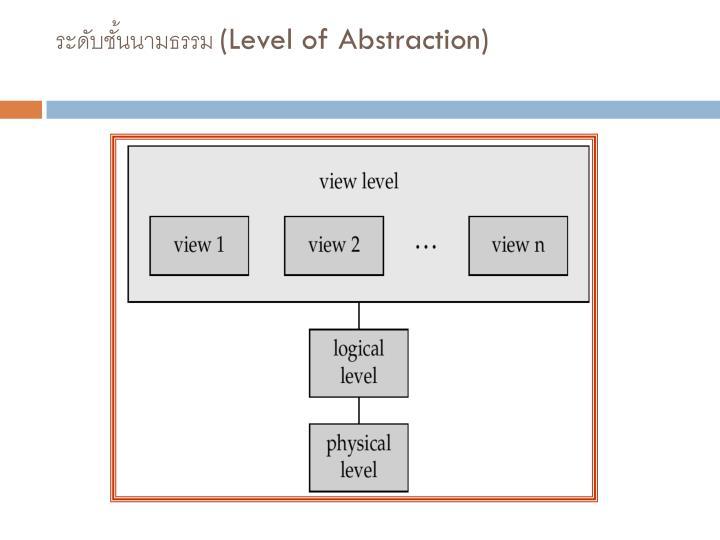 ระดับชั้นนามธรรม (Level of Abstraction)