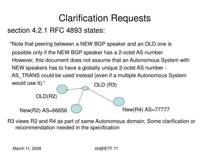 Clarification Requests