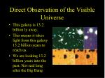 direct observation of the visible universe6