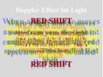 doppler effect for light