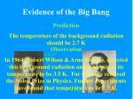 evidence of the big bang10