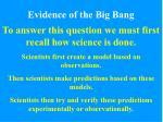 evidence of the big bang2