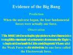 evidence of the big bang7