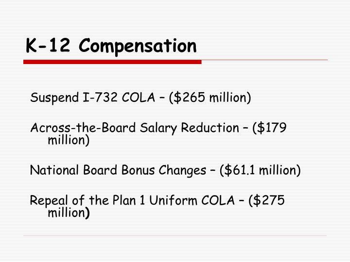 K-12 Compensation
