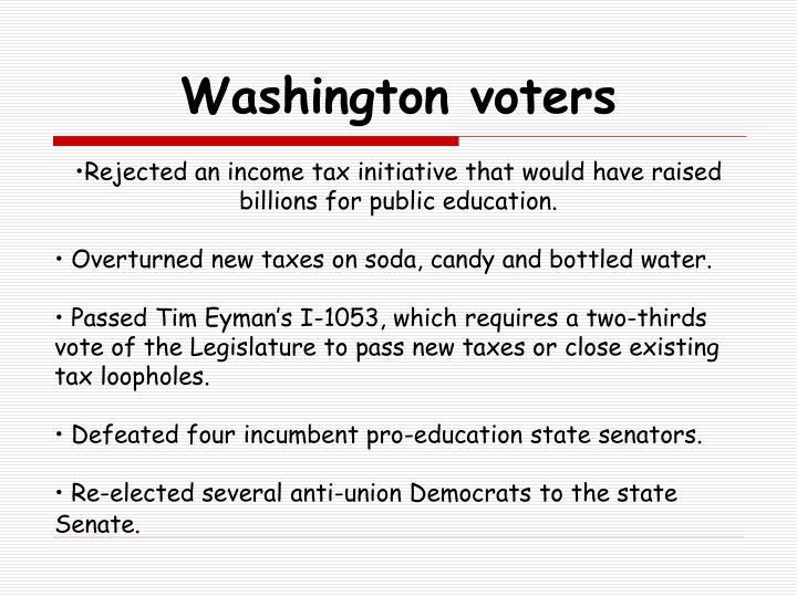 Washington voters