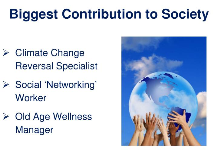 Biggest Contribution to Society