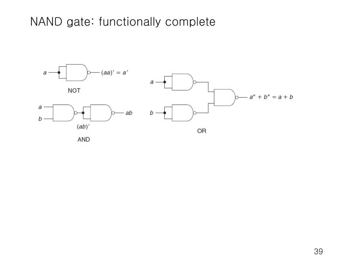 NAND gate: functionally complete