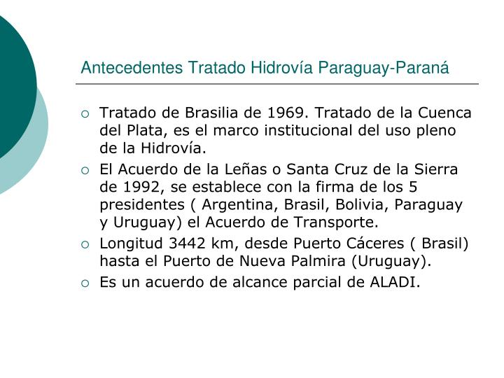 Antecedentes Tratado Hidrovía Paraguay-Paraná