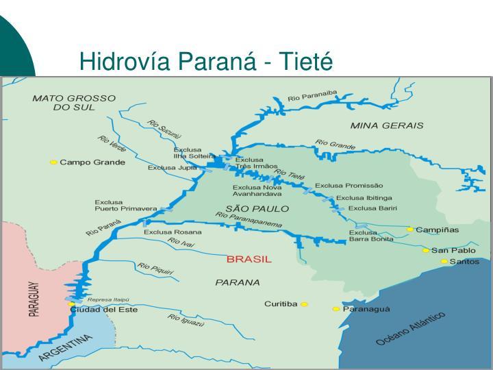 Hidrovía Paraná - Tieté