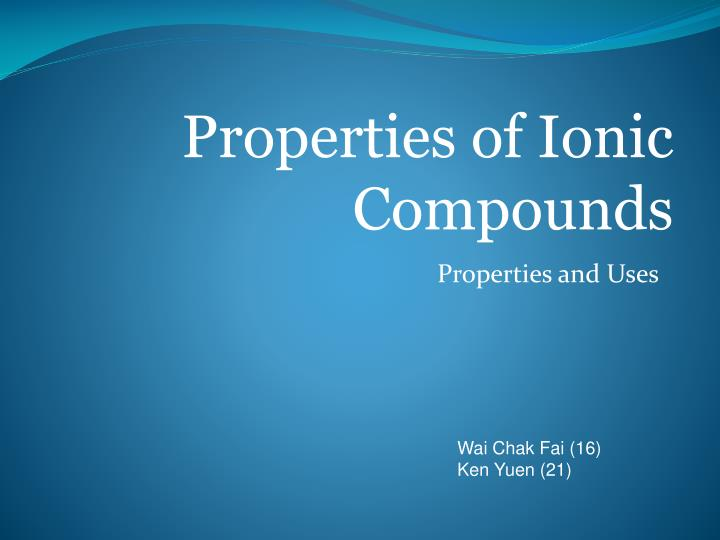 properties and uses n.